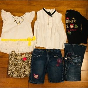Girl Bundle of 6 items Size 4T